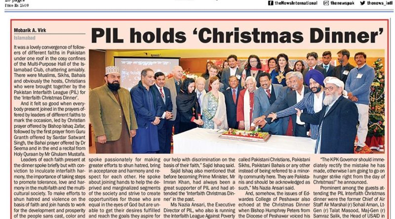 PIL holds 'Christmas Dinner' 2019