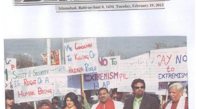 PIL Protest for Hazara Community- 2013